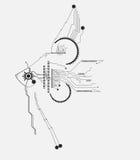 Fond abstrait de concept d'idée de poissons de technologie Images stock