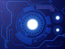 Fond abstrait de concept de technologie Descripteur de conception de vecteur illustration stock
