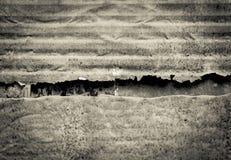 Fond abstrait de concept de vintage de vieux mur rouillé endommagé en métal Photo libre de droits