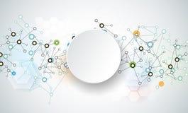 Fond abstrait de connexion de technologie Photos stock