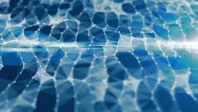 Fond abstrait de connexion réseau Concept de technologie et de connectivité Molécule et fond de communication clips vidéos