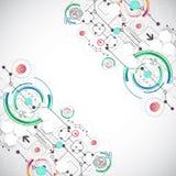 Fond abstrait de couleur avec de divers éléments technologiques Images stock