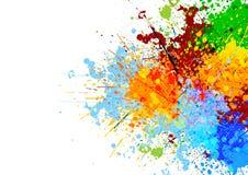Fond abstrait de couleur d'éclaboussure illustration stock