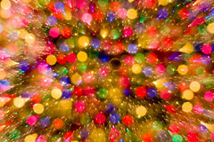 Fond abstrait de couleur de lumières de bokeh de Noël Photos libres de droits
