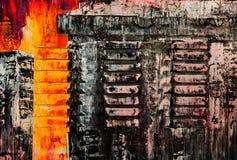 Fond abstrait de couleur de peinture Images libres de droits