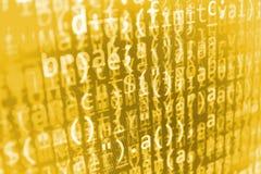 Fond abstrait de courant de bits d'informations Images libres de droits