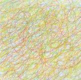 Fond abstrait de crayon de couleur de griffonnage d'aspiration. Image stock
