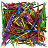 Fond abstrait de crayons Photo libre de droits