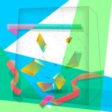 Fond abstrait de cube illustration de vecteur