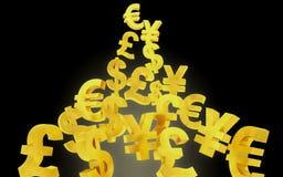 Fond abstrait de devise Image libre de droits