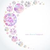 Fond abstrait de diamant Photo stock