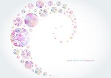 Fond abstrait de diamant Image libre de droits