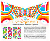 Fond abstrait de disco Images libres de droits