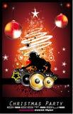 Fond abstrait de disco de musique de Noël Images stock