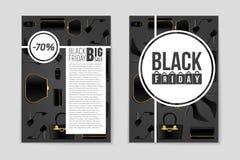 Fond abstrait de disposition de Black Friday de vecteur Pour la conception créative d'art, liste, page, style de thème de maquett photographie stock