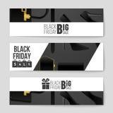 Fond abstrait de disposition de Black Friday de vecteur Pour la conception créative d'art, liste, page, style de thème de maquett Image libre de droits