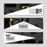 Fond abstrait de disposition de Black Friday de vecteur Pour la conception créative d'art, liste, page, style de thème de maquett photos stock