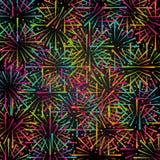 Fond abstrait de feu d'artifice Conception abstraite de vecteur Images stock