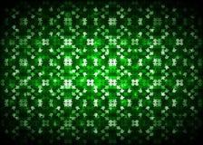 Fond abstrait de feu vert Images libres de droits