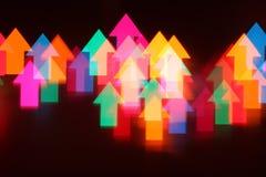Fond abstrait de flèches Photo libre de droits