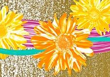 Fond abstrait de fleur illustration de vecteur