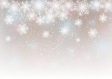 Fond abstrait de flocon de neige Photographie stock
