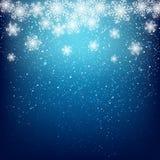 Fond abstrait de flocon de neige Photos libres de droits