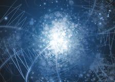Fond abstrait de flocons de neige Image libre de droits