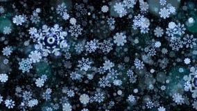 Fond abstrait de flocons de neige de Noël illustration libre de droits