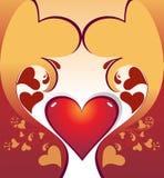 Fond abstrait de forme d'amour illustration stock