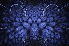 Fond abstrait de fractale Fond fortement détaillé avec des couleurs pourpres et roses avec des éléments des spirales, des lignes  illustration de vecteur