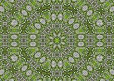 Fond abstrait de fractale - lames de vert Images stock