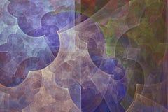Fond abstrait de fractale Peinture abstraite dans des couleurs en pastel vues comme des images d'une caverne L'image texturisée d Photo stock