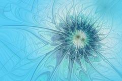 Fond abstrait de fractale semblable à une fan bleue Photo libre de droits