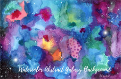 Fond abstrait de galaxie d'aquarelle illustration stock