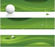 Fond abstrait de golf Images libres de droits