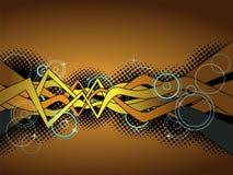 Fond abstrait de graffiti Images libres de droits