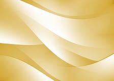 Fond abstrait de jaune de texture de courbe Photos libres de droits