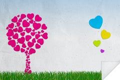 Fond abstrait de l'amour Image stock