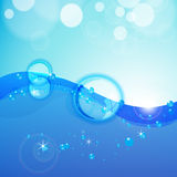 Fond abstrait de l'eau. illustration de vecteur
