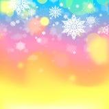 Fond abstrait de l'hiver Photo libre de droits