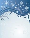Fond abstrait de l'hiver de vecteur illustration libre de droits