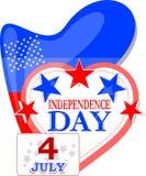 Fond abstrait de l'indépendance des Etats-Unis Photo stock