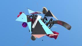 Fond abstrait de la géométrie Image libre de droits