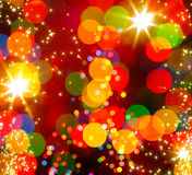 Fond abstrait de lumière d'arbre de Noël Images stock