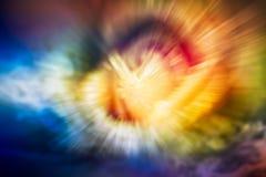 Fond abstrait de lumière de mouvement Photographie stock libre de droits