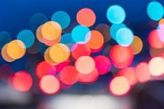 Fond abstrait de lumière de nuit d'embouteillages Photos libres de droits