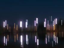 Fond abstrait de lumières de nuit avec l'espace de copie photographie stock libre de droits