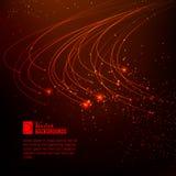 Lumières rouges abstraites. Photo stock