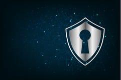 Fond abstrait de maille avec la ligne et la forme de cercle conception de sécurité de vecteur Images stock